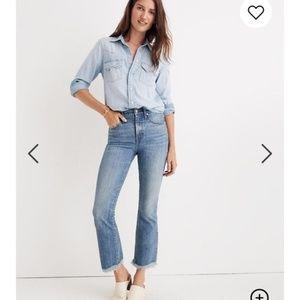 Madewell Cali Demi Boot Jeans Destructed Hem